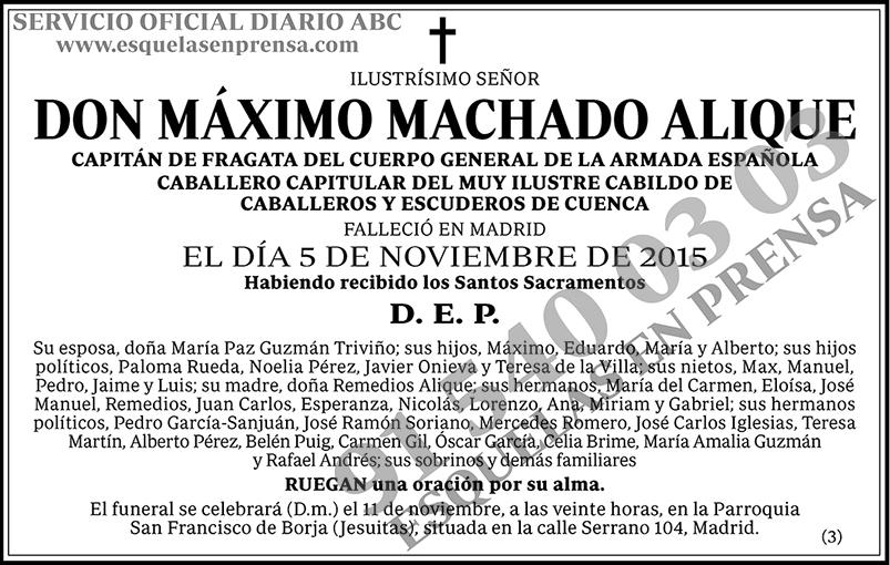 Máximo Machado Alique